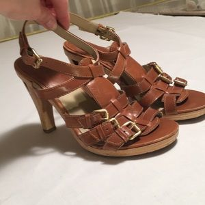 Michael KORS  Wooden Sole Strappy Sandals